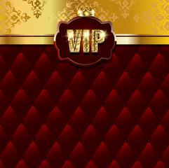 Premium vip background with golden elements