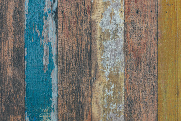 old painted wooden planks for background