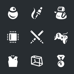 Vector Set of Robo Battle Icons.