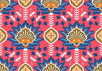 Turkish, Arabic, African, Islamic Ottoman Empire's era traditional seamless ceramic tile, vector pattern