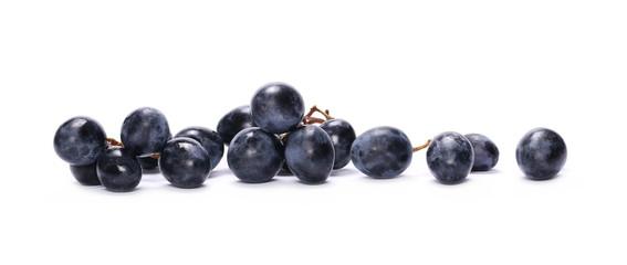 Dark grapes, isolated on white background Fototapete
