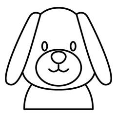Cute dog head cartoon icon vector illustration graphic design
