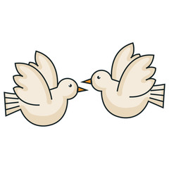 peace doves flying icon vector illustration design