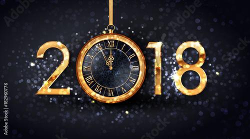 2018 new year greeting card of glittering confetti glitter on 2018 new year greeting card of glittering confetti glitter on premium black background vector christmas m4hsunfo