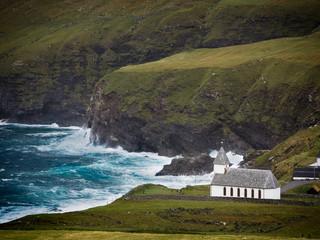 Färöer Inseln - Kirche von Vidareidi -Vidoy