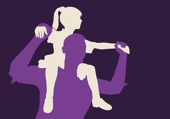enfant - père - fille - bonheur - génération - aimer - sur les épaules - amour - heureux - porter