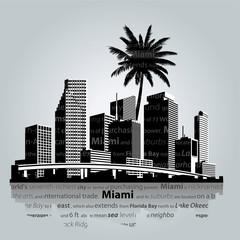 Miami skyline. Vector illustration