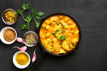 Chicken curry, top view