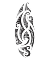 Tattoo tribal maori vector designs element. Tribal tattoos. Art tribal tattoo. Vector sketch of a tattoo. Idea for design. Maori style tattoo.