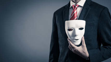 仮面とビジネスマン