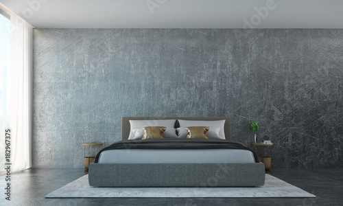 The Luxury Bedroom Interior Design And Wall Texture Background