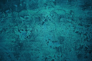 Dreckige grunge Textur mit blau türkiser Farbe
