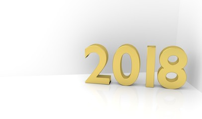 201year 3D text - Copyspace