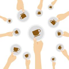 Hand hält Symbol - Kaffee