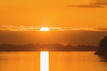 Foto op Aluminium Oranje sunset landscape