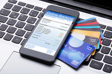 Mobilephone With Online Banking App