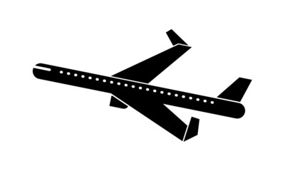 Aeroplane Icon Isolated. Airplane Illustration.