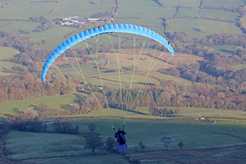 Paraglider in the Brecon Beacons
