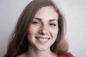 Smiling fresh faced girl