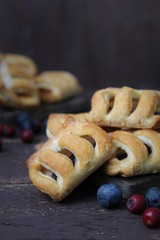 strudel with berries