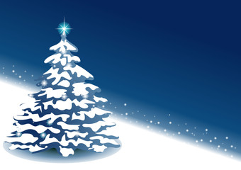 New Year blue background with place for text.  EPS 10