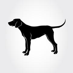Vector Schiller Hound Dog Silhouette.