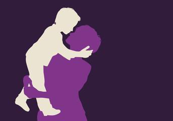 enfant - mère - fils - bonheur - génération - aimer - dans les bras - amour - embrasser - heureux