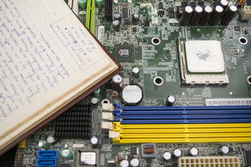 modern technologies with a motherboard