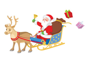 santa claus reindeer sleigh
