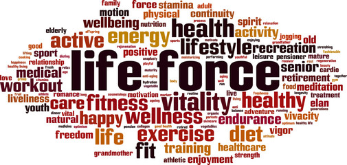 Life force word cloud