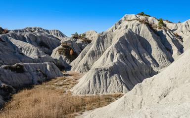 Gresos y Lutites, Rocas detríticas sedimentarias en las Costes Males ,comarca de Osona, Cataluña, España