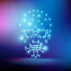 Fototapeta czaszka wektor obraz