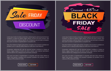 Sale Black Friday Discounts Advert Banners Text