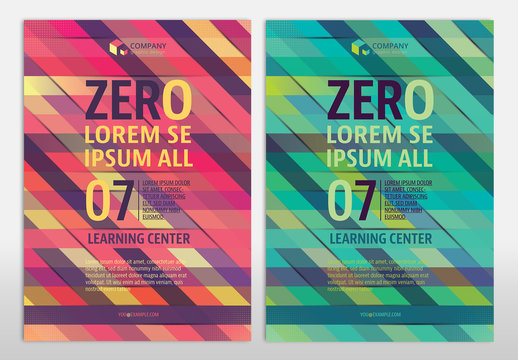Multipurpose Flyer Layout with Geometric Element 9