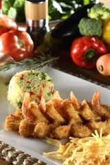 Shrimp and Rice (Camarão á Grega)