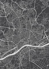 Frankfurt am Main city plan, detailed vector map