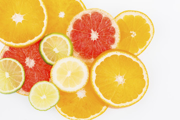Printed roller blinds Slices of fruit orange slices