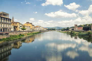landscape Arno river in Florence,Italy