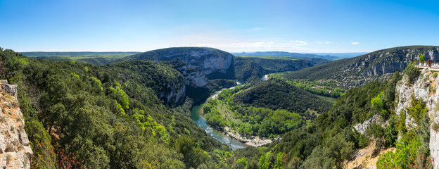 View of Ardeche Gorges