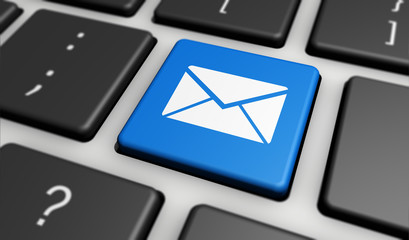 Email Icon Internet Newsletter And Contact Us Concept