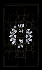 Tarot cards - back design.  Bronze grille - symbol of love and wisdom