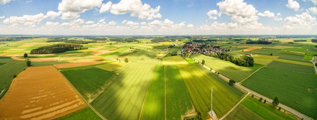 Luftaufnahme Ländlicher Raum - Panorama