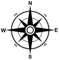 Compass wind rose vector design element