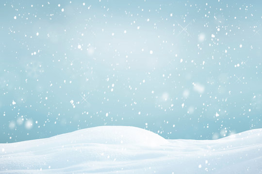 winter background with snowflakes, Christmas background with heavy snowfall, snowflakes in the sky