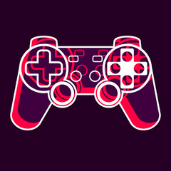 Red-violet game controller icon