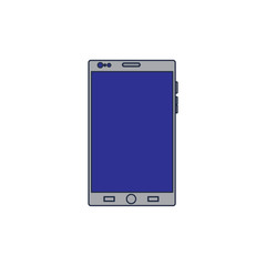 mobile phone gadget technology touch screen vector illustration blue screen