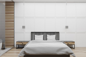 White and wooden bedroom