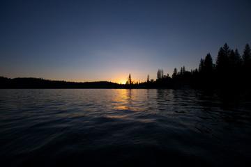 Bass Lake Sunset