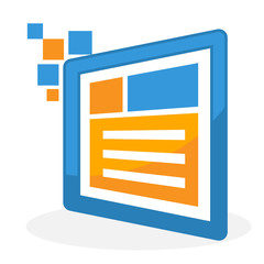 icon logo illustration for business website design development