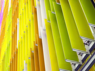 acrylic plastic sheet interior slope bottom 45 degree and orange yellow brown